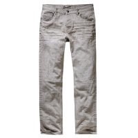 Light gray worn jeans front