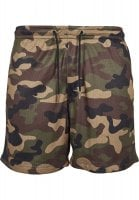 Airy camo shorts men woodcamo