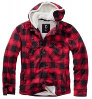 Lumberjacket hooded red/black 1