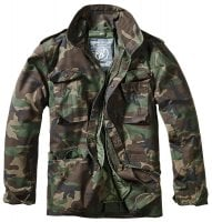 M-65 jacket classic camo woodland front