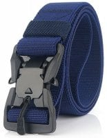 Magnetic belt with stretch blue