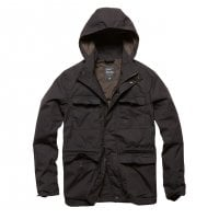 black Matt parka jacket men