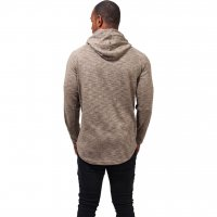 Melange shaped hoody sand 2