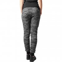 Fitted melange zip sweatpants 2