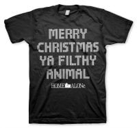 Merry christmas ya filthy animal T-shirt 7