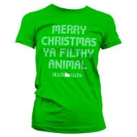 Merry christmas ya filthy animal girly T-shirt 2
