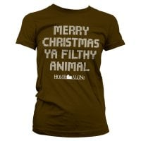 Merry christmas ya filthy animal girly T-shirt 3