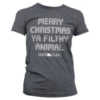 Merry christmas ya filthy animal girly T-shirt 4