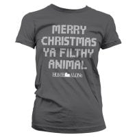 Merry christmas ya filthy animal girly T-shirt 5