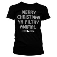 Merry christmas ya filthy animal girly T-shirt 6