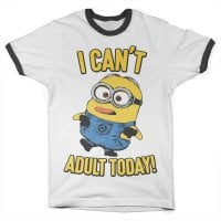 Minions - I Can't Adult Today Ringer T-shirt 1