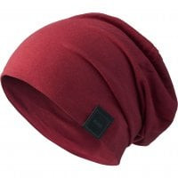 Beanie long and thin maroon