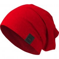 Beanie long and thin red