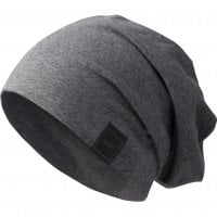 Beanie long and thin heather charcoal