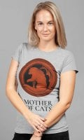Mother Of Cats gray t-shirt