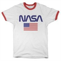 NASA - Old Glory Ringer Tee Red