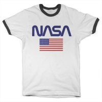 NASA - Old Glory Ringer Tee Black