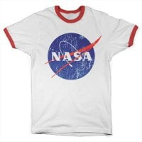 NASA washed logo ringer T-shirt 1