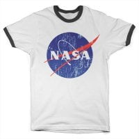 NASA washed logo ringer T-shirt 2