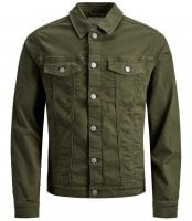 Olive denim jacket men 1