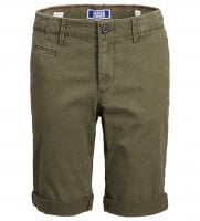 Olive green jeans shorts kids 1