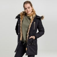 Parka jacket with fur lady