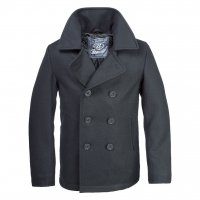 Pea coat mens black