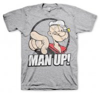 Popeye - Man up! grå t-shirt