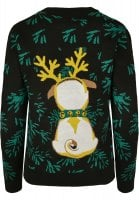 Pug christmas sweater lady 2