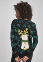 Pug christmas sweater lady 4