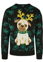 Pug christmas sweater man