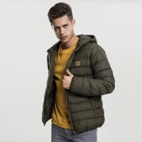 Quilted winterjacket men darkolive front