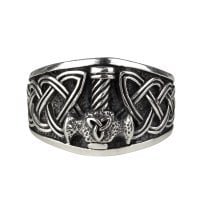 Ring with mjolnir 925 sterling silver 2
