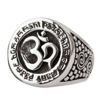 Aum ring in silver