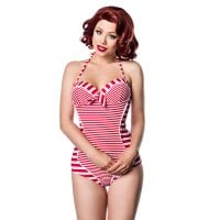 Striped retro swimsuit 1