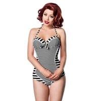 4acbc2d6686b Rockabilly swimsuit with belt - Swimwear - Womens - Oddsailor.com