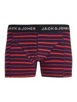 Striped boxer shorts red