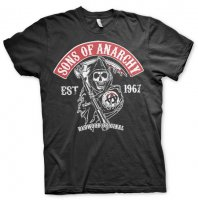 Redwood Original Red Patch T-shirt svart fram