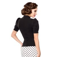 Retro blouse with high neck 11