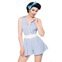 Retro Jumpsuit front blue