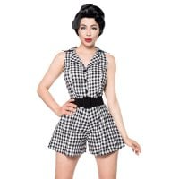 Retro Jumpsuit front black
