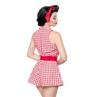 Retro Jumpsuit back red