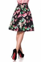 Retro skirt with flowers back