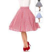 Retro checkered skirt red front