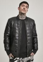 Ribbed bomber jacket in artificial leather 1