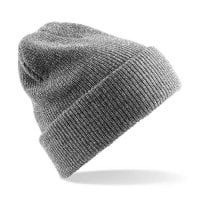Heather gray Ribbed hat with or without ankle