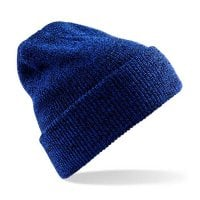 Dark royal blue Ribbed hat with or without ankle
