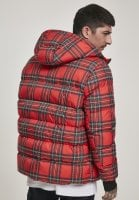 Red checkered hooded jacket hoodie
