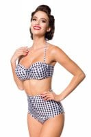 Checkered bikini top wuth trousers