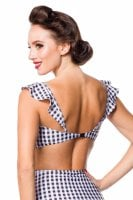 Checkered bikini top vingärm